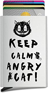 Angry cat,Keep Calm Custom Unisex Automatic Pop-Up Business Card Case ID Card,Credit Card/Protective Cover