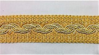 TOMASELLI MERCERIA Passamaneria PON PON 1 Fila Colorata con Perlina Oro Alta mm 12