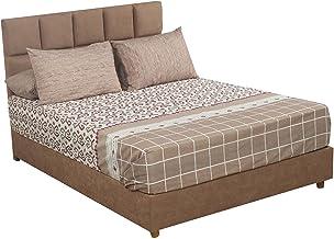 طقم ملاية سرير بنقشات متعددة من المأمون، 260×240 سم - 4 قطع