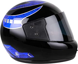 Mototrance full Face Helmet Matt Black (Size-L, 58-59 cm)