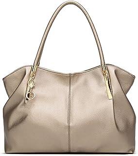 Frauen Handtaschen PU-Leder Frauen Taschen Top-Griff Tasche Damen Umhängetasche Weibliche Tasche (Color : Gold)