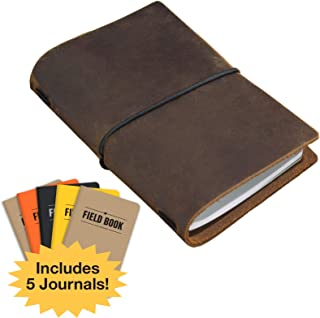 leather notebook field note