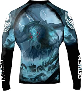 Raven Fightwear Men's The Great Old One Cthulhu Rash Guard MMA BJJ Black