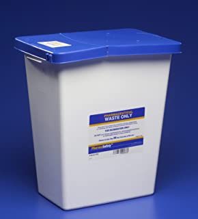 blue pharmaceutical waste containers