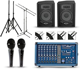 Phonic Powerpod 750R Mixer with S7 Speakers PA Package 10