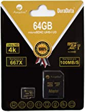 64GB Micro SD SDXC V30 A1 Memory Card Plus Adapter Pack (Class 10 U3 UHS-I Pro MicroSD XC) Amplim 64 GB Ultra High Speed 6...