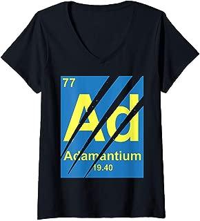 Womens Marvel Wolverine Adamantium Claw Marks Logo V-Neck T-Shirt
