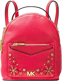 Jessa Small Floral Embellished Pebbled Leather Convertible Backpack
