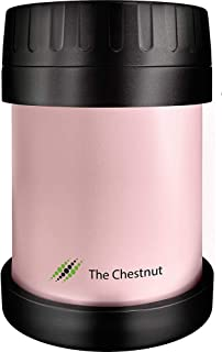 Small Thermos - Food Jar for Women, Men & Kids - Stainless Steel Thermo Lunch Box - Travel Metal Container - Hot Food, Soup (Baby-Pink)