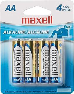 Maxell 723465 LR6 4BP AA 1.5V Alkaline Battery Long Lasting 4 Pack