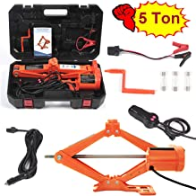 Electric Car Floor Jack 5 Ton All-in-one Automatic 12V Scissor Lift Jack Set for SUV..