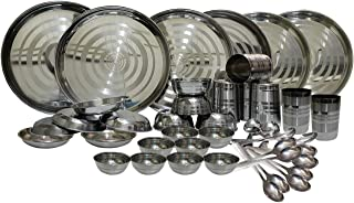 Dynore Stainless Steel Dinner Set, 42-Pieces, Silver