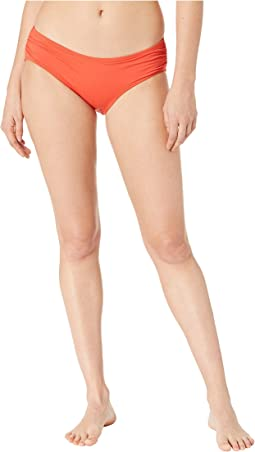 Iconic Solids Shirred Bikini Bottoms
