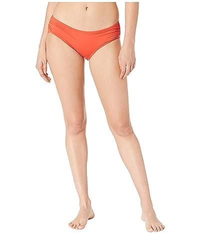 MICHAEL Michael Kors Iconic Solids Shirred Bikini Bottoms (Terracotta) Women