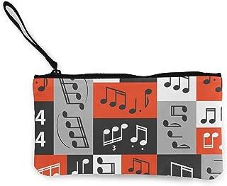 MODREACH Women and Girls Graphic Music Notes Design Cute Fashion Coin Purse Wallet Bag Change Pouch Key Holder