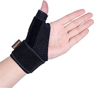 Thx4 Copper Compression Reversible Thumb & Wrist Stabilizer Splint for BlackBerry Thumb, Trigger Finger, Pain Relief, Arthritis, Tendonitis, Sprained, Carpal Tunnel, Stable, Lightweight, Breathable