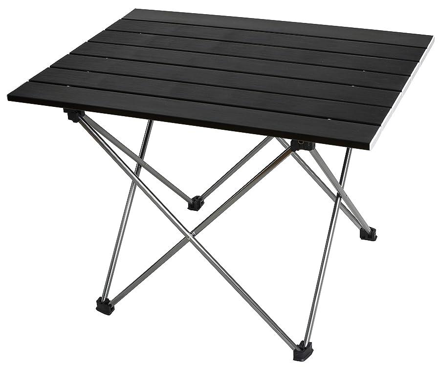 アジア人溶接化学MARCHWAY アウトドアテーブル キャンプ ロールテーブル アルミ製 超軽量 コンパクト 折りたたみ ピクニック レジャー パーティー 耐荷重30kg