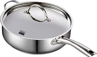 Cooks Standard 02523 Classic Stainless Steel Deep Lid 5 Quart/11-Inch Saute Pan, 5 Quart, Silver