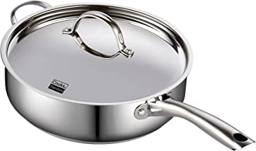 Cooks Standard 2523 Classic Stainless Steel Deep Lid 11-Inch Saute Pan, 5 Quart, Silver