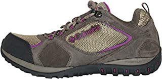 Columbia Women's Access Point II Waterproof Hiking Shoes (6.5, Pebble/Intense Violet)
