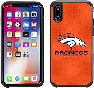 Prime Brands Group Cell Phone Case for Apple iPhone X - NFL Licensed Denver Broncos Textured Solid Color