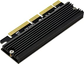 A ADWITS PCI Express 3.0 4X 8X 16x to M.2 NVMe and AHCI SSD Adapter Card with Heat Sink, Bracket-Free and Compatible with Samsung 960 970 EVO PRO WD Black and More
