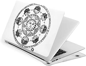 GHYGTY Sun Astrological Black Zodiac Celestial Tarot Compatible with Laptop Case for MacBook New Air 13 Inch Case A1932 Plastic Hard Shell Case Computer Cover Protector Sleeve for Newest Air 13''