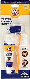 Arm & Hammer for Pets Tartar Control Dental Training Kit for Puppies | Dog Toothbrush, Toothpaste, & Fingerbrush, Total Ki...