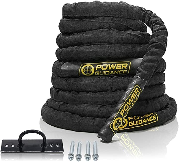 Corda palestra power guidance battle rope battaglia corda 38mm/50mm completamente in dacron 9 m/12 m/15 m PG160707BRL2