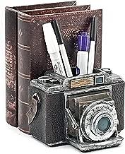 Bellaa 24094 Camera Pen Pencil Holder Desk Organizer Bookend Bookshelf Decor 6 inch