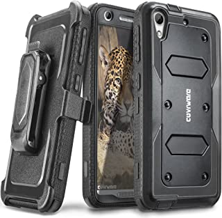 COVRWARE HTC Desire 626 / 626s - [Aegis Series] Heavy Duty Dual Layer Hybrid Full-Body Armor Holster Case with Front Cover Built-in Screen Protector - Black