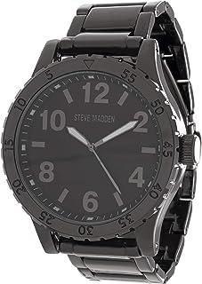 Men's Analog-Quartz Watch with Alloy Strap, Black, 23.368 (Model: SMW107BK)
