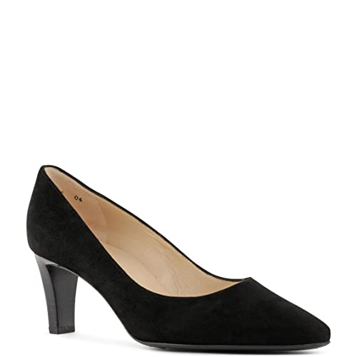 e23662e5b03 Peter Kaiser Mani Classic Semi-Pointed Mid Heel Court Shoes in Black Suede