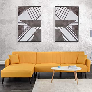 Amazon.com: Yellow - Sofas & Couches / Living Room Furniture ...