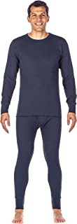 Noble Mount Men's Extreme Cold Waffle Knit Thermal Top and Bottom Set