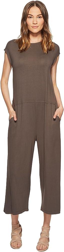 Eileen Fisher Lightweight Viscose Jersey Wide Leg Jumpsuit