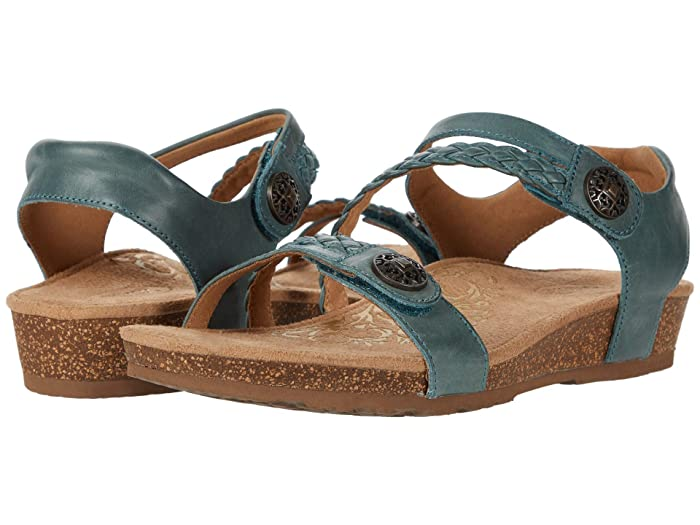 Aetrex  Jillian Quarter Strap (Teal) Womens Sandals
