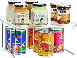 iDesign rangement cuisine, petite étagère de rangement en plastique et métal, étagère à épices empilable pour vaisselle et...