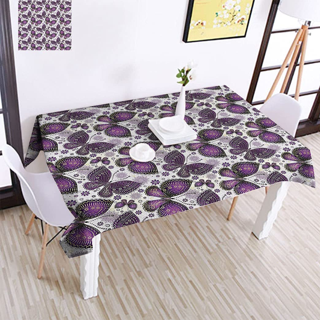 Butterfly Indefinitely Elegant Classic Pattern Tablecloth with Butterflies Mo Paisley