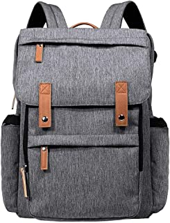 Hap Tim Diaper Bag Backpack Muilti-Function Waterproof Large Capacity Travel Diaper Backpack for Baby Care with Stroller Straps,Insulated Pockets (K1004US-G)