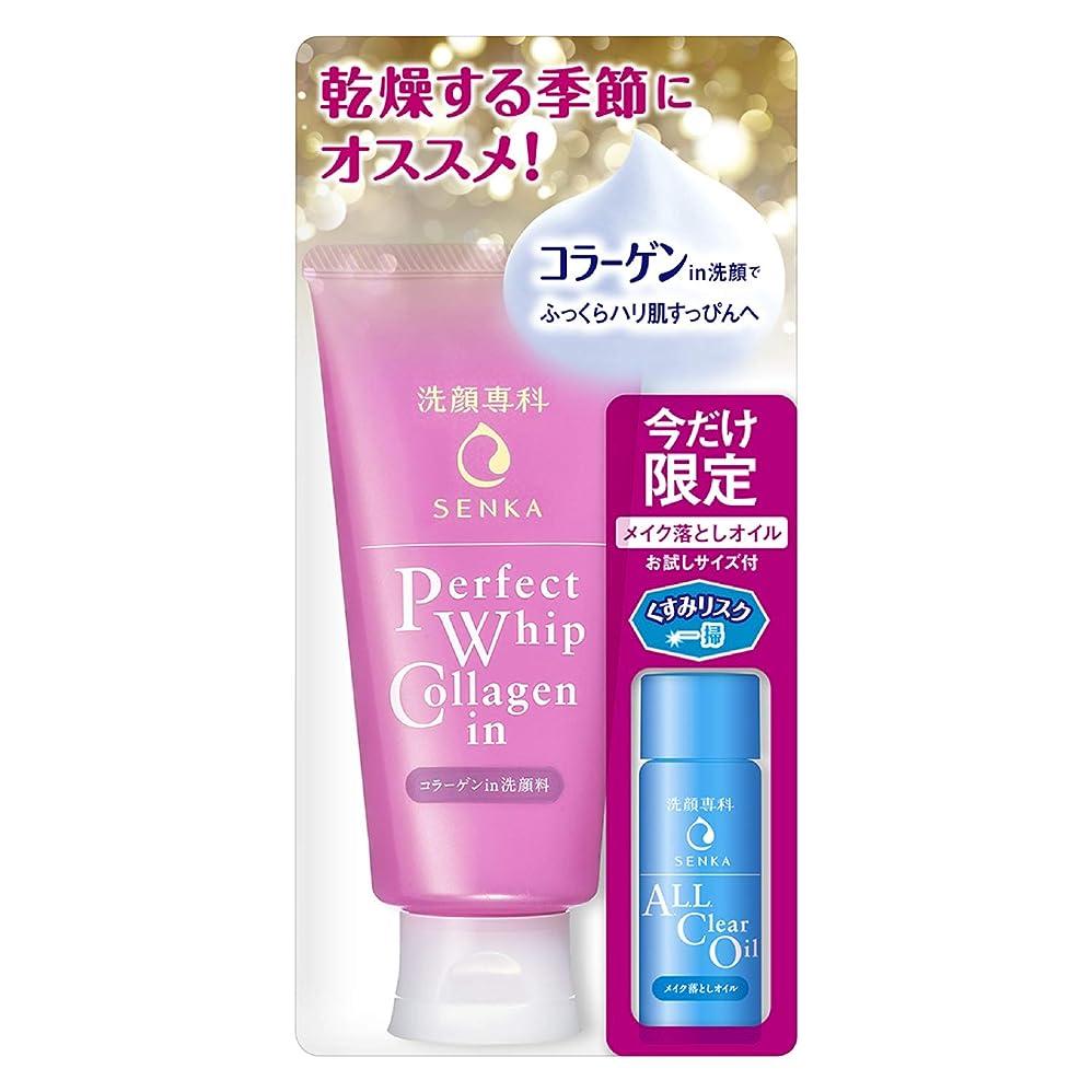 溶かす腐敗同化洗顔専科 パーフェクトホイップ コラーゲンin オールクリアオイル特製サイズ付き