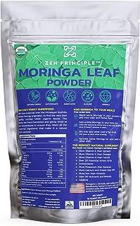 2-Pack Premium Organic Moringa Oleifera Leaf Powder. 100% USDA Certified. Sun-Dried, All Natural Energy Boost, Raw Superfo...