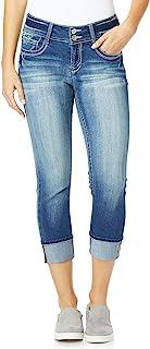 WallFlower Women's Juniors Luscious Curvy Crop/Capri Jeans