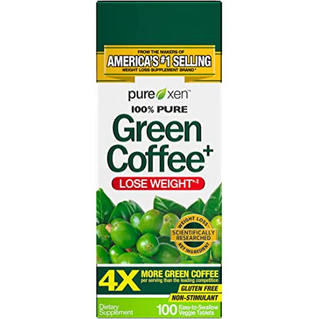Green Coffee Bean Extract for Weight Loss Supplement   Purely Inspired Green Coffee Extract to Lose Weight   Dietary Supplements for Weight Loss   Non Stimulant Weight Loss Coffee Pills, 100 Count