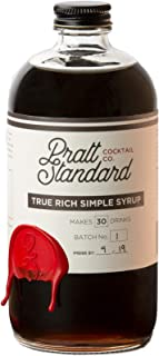 Pratt Standard Cocktail Company Old Fashioned Rich Simple Syrup for Cocktails, 16 oz