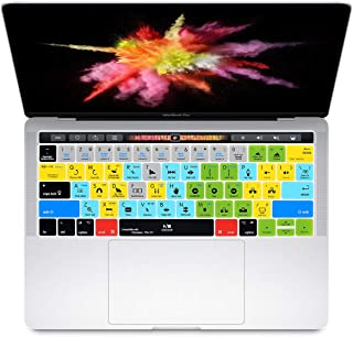 HRH Adobe Premiere Pro CC Shortcuts Hotkey Silicone Keyboard Cover Skin for MacBook New Pro with Touch Bar 13 Inch and 15 ...