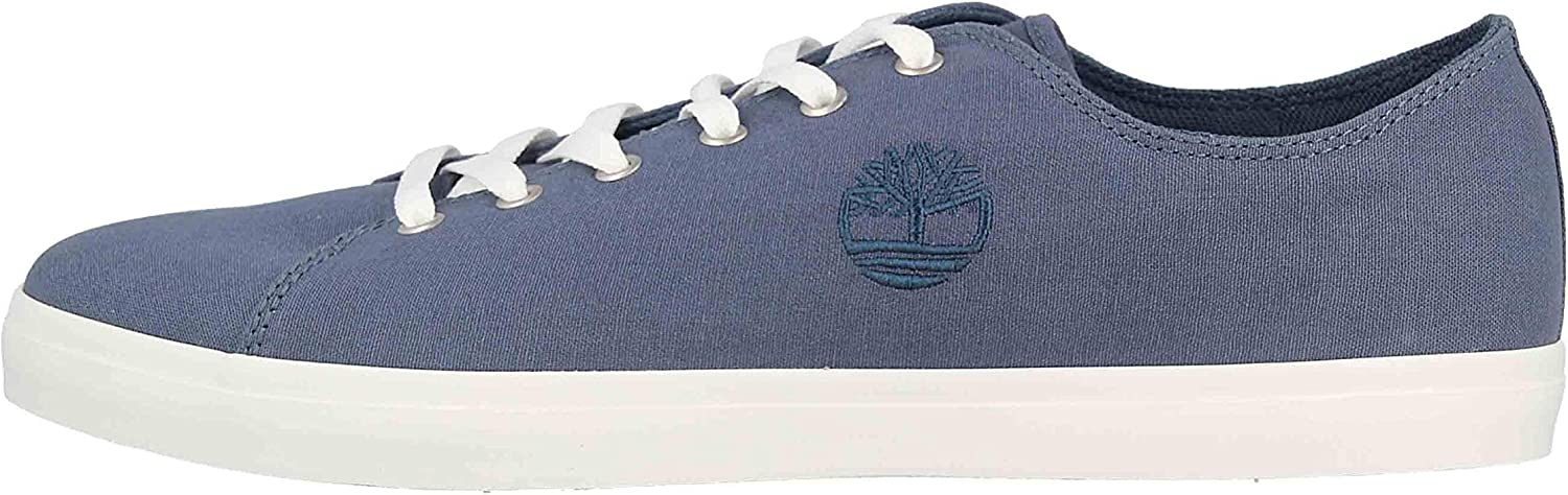 Timberland Men's Oxford Shoes Low-top Sneakers, Blue Dark Blue Canva