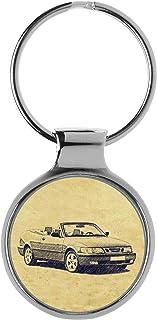 KIESENBERG Sleutelhanger Cadeau voor 9-3 Cabrio Fan A-4791