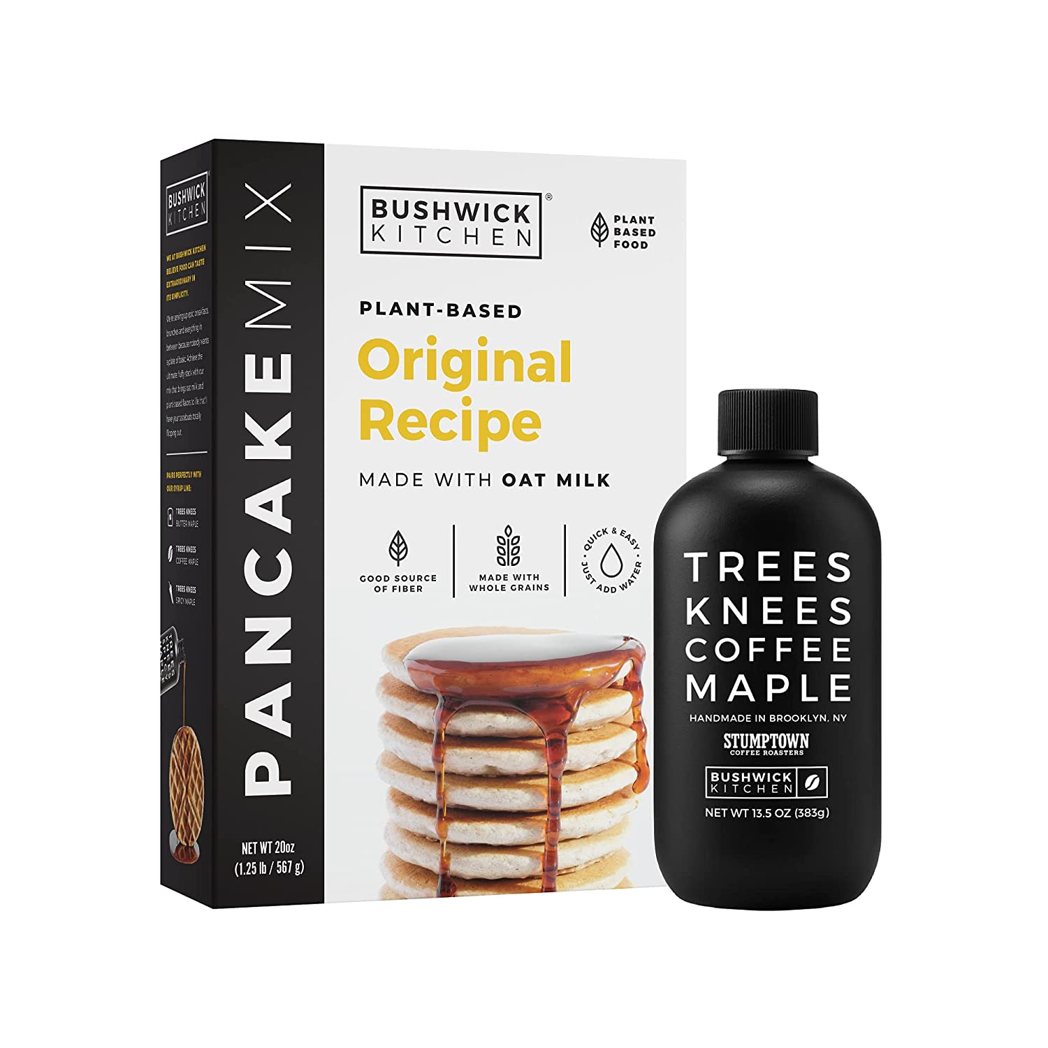 Bushwick Kitchen Plant Based Pancake Mix Year-end annual account Organic Syrup Or Set Quantity limited +