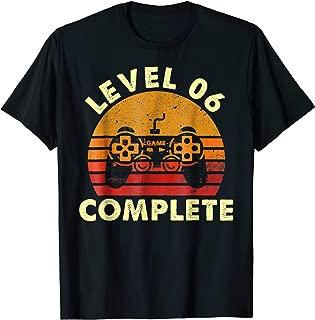 Level 6 Complete Vintage T-Shirt Celebrate 6th Wedding